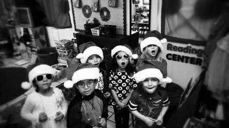 preschool christmas black and white